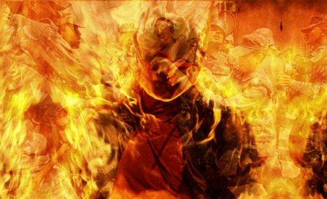 В Лиде мужчины пытался себя заживо сжечь