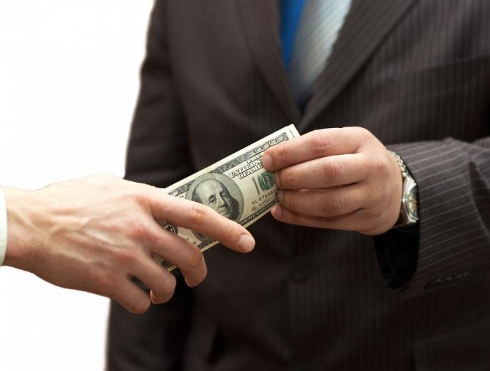 Схема получения взятки