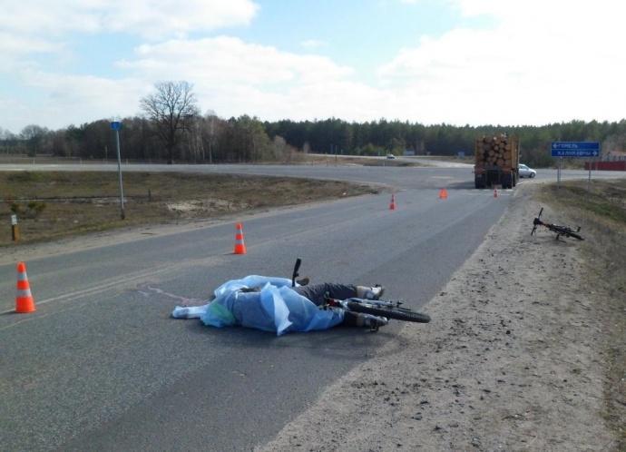 В Речицком районе грузовик насмерть сбил пенсионерку на велосипеде