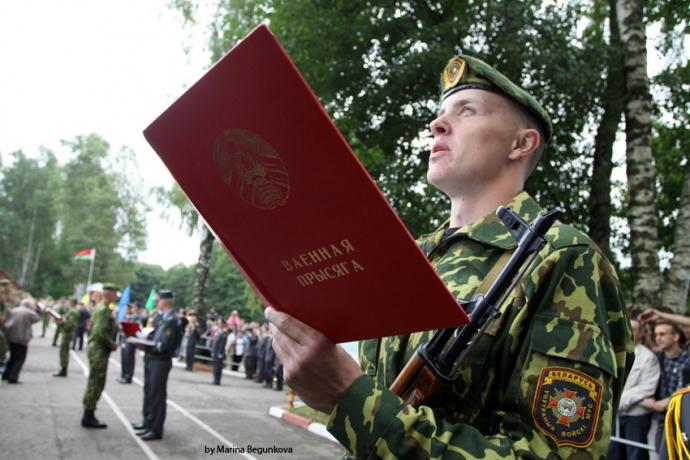 Ввоенных частях Республики Беларусь прошла церемония присяги