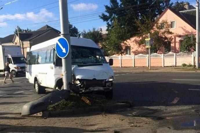 ДТП сучастием маршрутки вМинске
