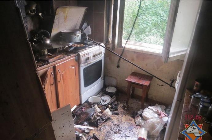 Минчанин получил ожоги при вспышке газа вквартире
