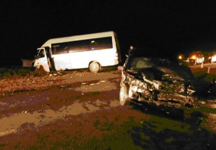 ВГродно женщина на Вольво столкнулась смаршруткой— пятеро пострадавших