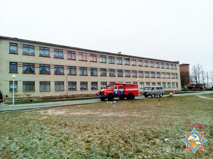 ВДобруше впроцессе пожара вшколе эвакуировали неменее 200 детей