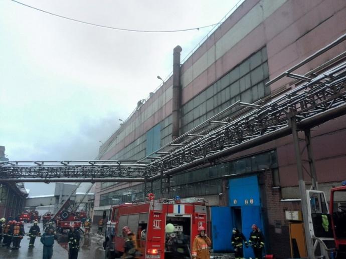 Водном изцехов МТЗ появился пожар— МЧС