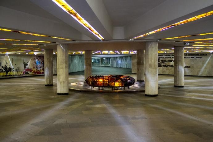 Стало известно, почему вМинске закрыт вход настанцию метро «Площадь Победы»