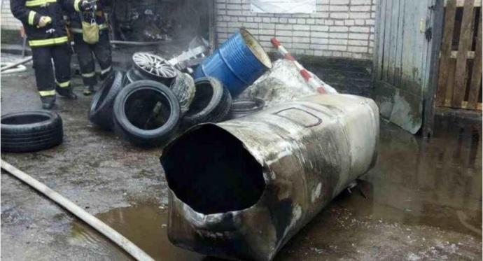 Взрыв наСТО вМинске: двое рабочих пытались распилить бензобак