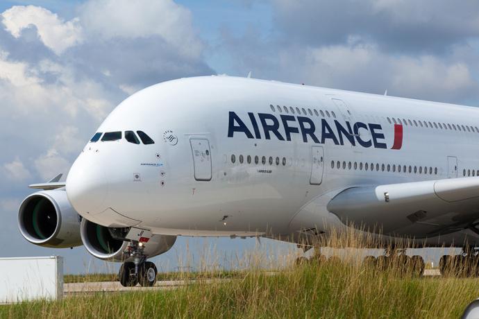 Упассажирского лайнера Air France вовремя полета разрушилась обшивка мотора