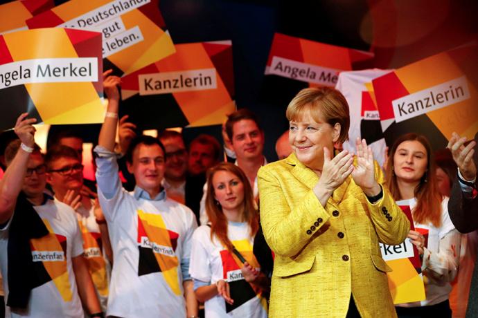 Партия Ангелы Меркель одержала победу навыборах вБундестаг