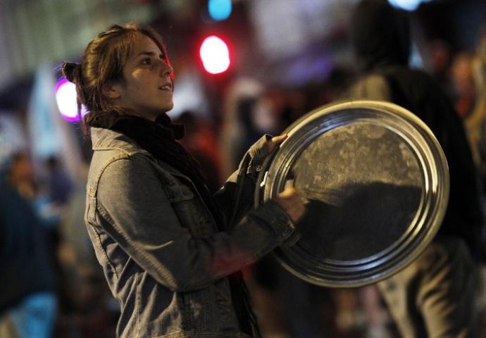 ВБарселоне начались стихийные протесты против решения властей Испании